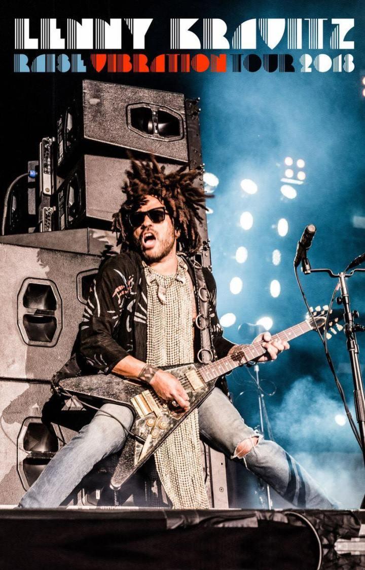 Lenny Kravitz ya está en México y se alista para dar su primer concierto el próximo 13 de abril en la Arena Ciudad de México